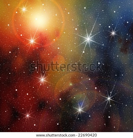 Cosmic Space with lots of Stars - stock photo