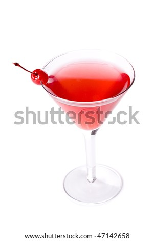 Cosmopolitan Cocktail on white ground - stock photo