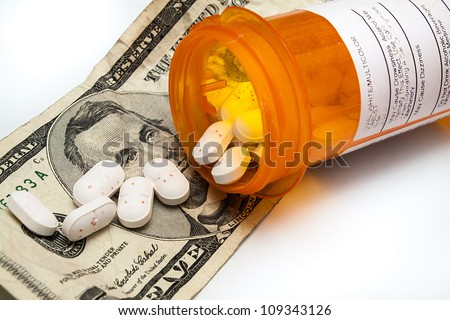 Cost of drugs is going up and they are also finding their way on our streets due to addictions - stock photo