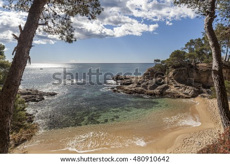 Costa Brava beach, Platja Aro, Catalonia, Spain.