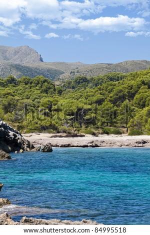 Costa de Mallorca, Cala Matzoc, Peninsula de Llevant - stock photo