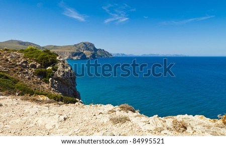 Costa de Mallorca, Peninsula de Llevant - stock photo