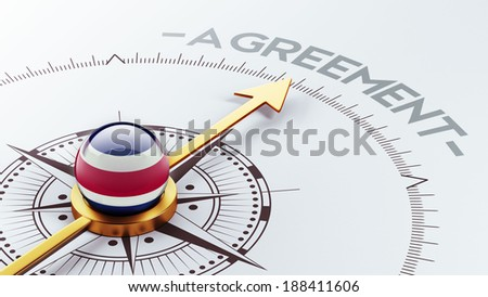 Costa Rica  High Resolution Agreement Concept - stock photo