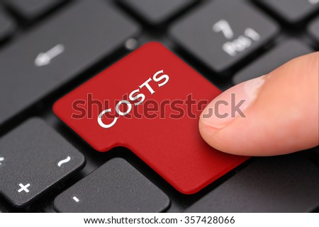 Costs - stock photo