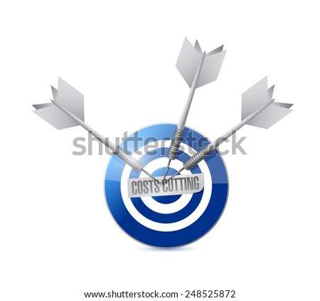 costs cutting target illustration design over a white background - stock photo