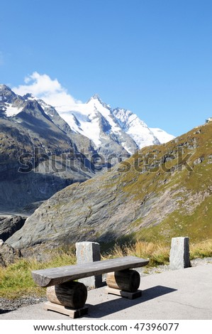 Cosy picnic area at the Grossglockner alpine road