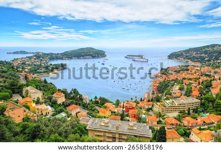Cote d'Azur by Nice, France - stock photo