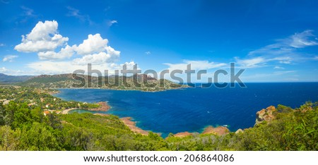 Cote d'Azur in France, panorama - stock photo