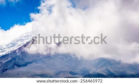 Cotopaxi volcano, Cotopaxi National Park, Ecuador - stock photo