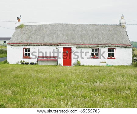 cottage, Malin Head, County Donegal, Ireland