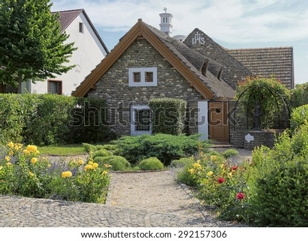 Cottage of the Abbey in Tihany - stock photo