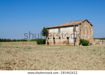 cottage on farmland in Italy