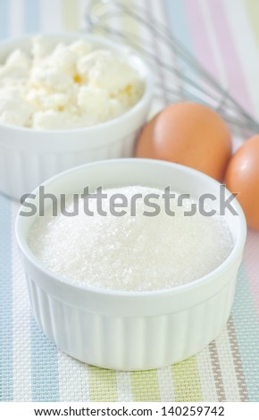 cottage,sugar and eggs