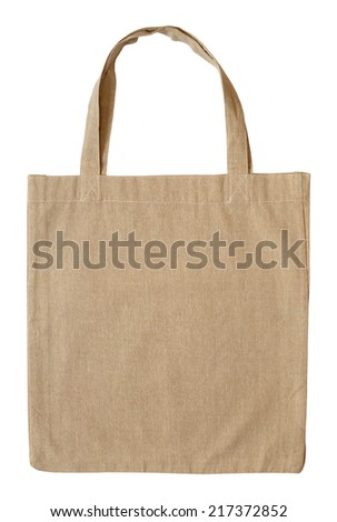Cotton bag isolated on white background - stock photo