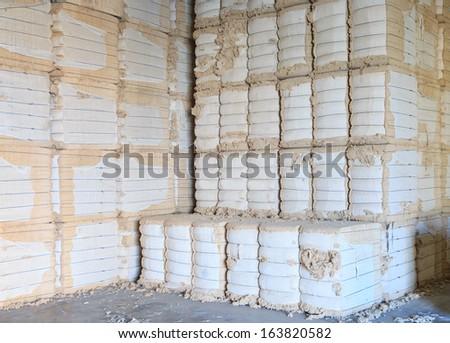 cotton bales - stock photo