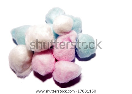 Cotton balls - stock photo