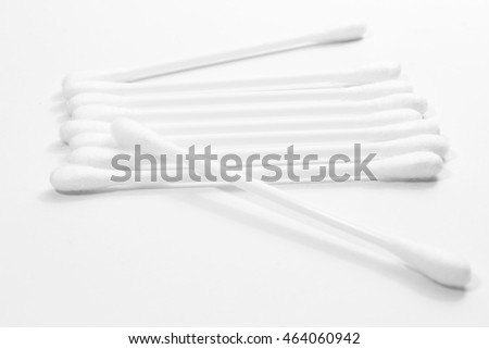 Cotton buds isolated on white background.