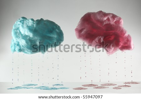 cotton candy in cloud shape - stock photo