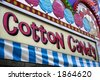 Cotton candy sign - stock photo