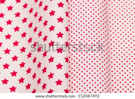 cotton fabric for needlework - stock photo