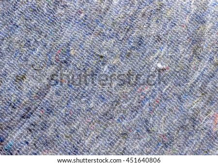 Cotton felt texture background. Wadding batting gasket