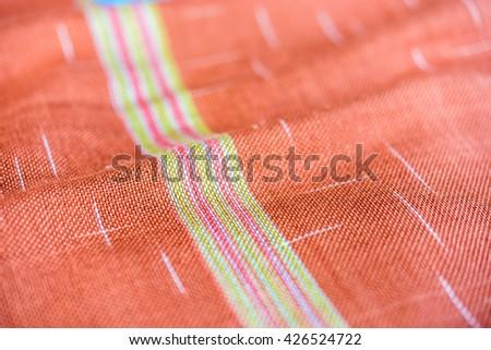 cotton, handmade cotton, traditional thai fabric of cotton - stock photo