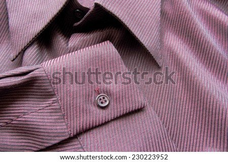 cotton violet and black striped shirt