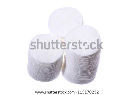 cotton wool disc - stock photo