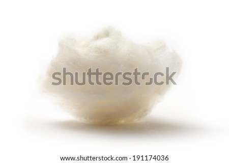 Cotton wool on the white background - stock photo