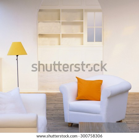 couch and pillow  - stock photo