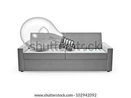 Couch bulb - stock photo