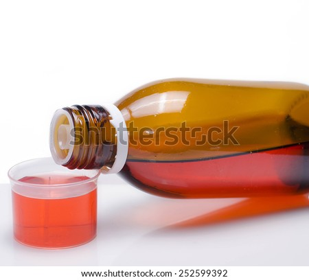 Cough syrup - stock photo