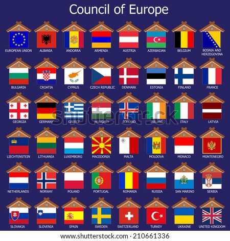 Council of Europe, Countries of Europe - stock photo