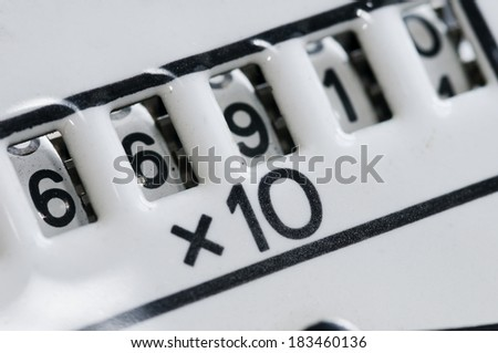 counter multiplied - stock photo
