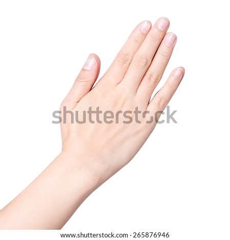 Counting hands isolated - stock photo