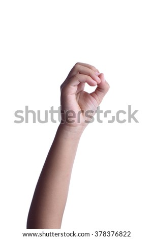 Counting hands isolated on white background - stock photo