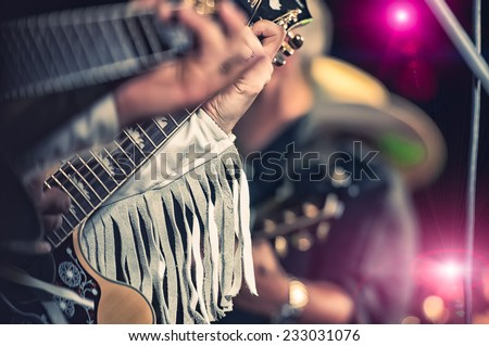 country band - stock photo