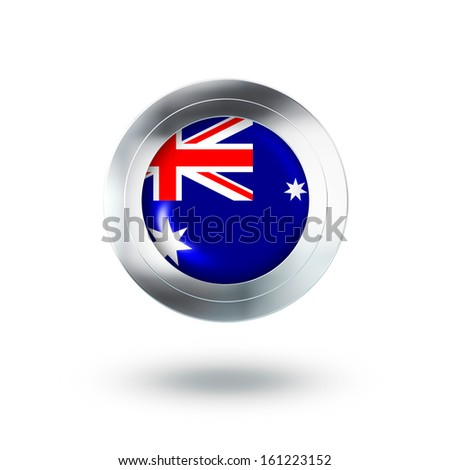 Country Banner, Button Design of Australia - stock photo