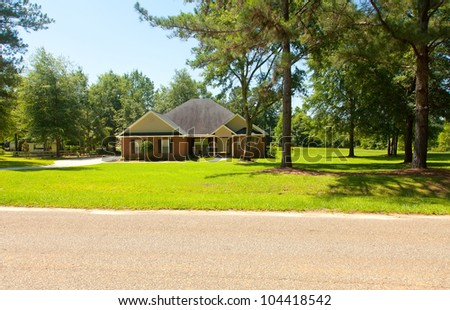 Country colonial home in rural Florida. - stock photo