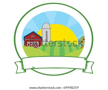 Country Farm Banner - stock photo