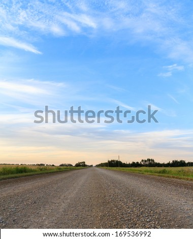 Country gravel road  - stock photo