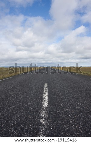 Country road in iceland