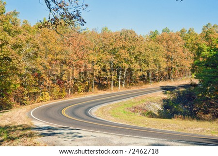 country road in the autumn or fall landscape