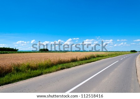 Country side empty road - stock photo