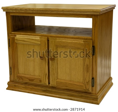 Country Style Oak TV Stand in Golden Oak Finish