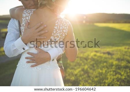 Country Vintage Wedding - stock photo