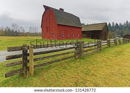Country western barn - stock photo