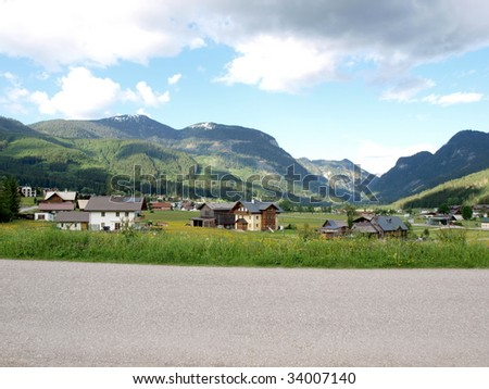 Countryroad  of Austria. - stock photo