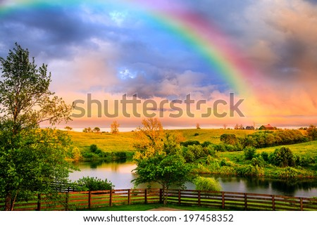 Countryside after storm - stock photo