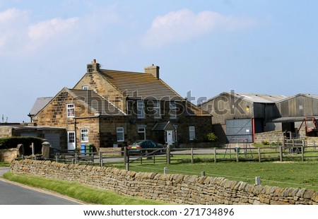 Countryside farm in Whitby, North Yorkshire, England. - stock photo